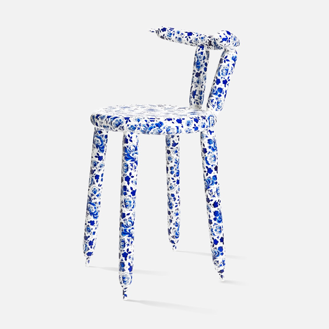 Carbon Balloon Chair Delft Blue